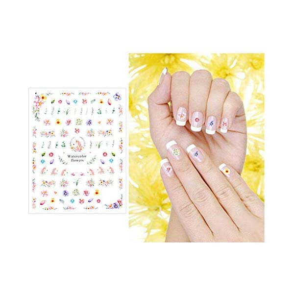 Konsait Unicorn Nail Stickers Decals (500+Designs), 3D Nail Art Stickers Self-adhesive Nail Tips Decorations for Kids Women Girls Unicorn Gift Birthday Party Bag Filler 6