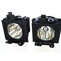 ET-LAD57W Panasonic Twin-Pack Projector Lamp Replacement. Projector Lamp Assembly with High Quality Genuine Original Ushio Bulb Inside.