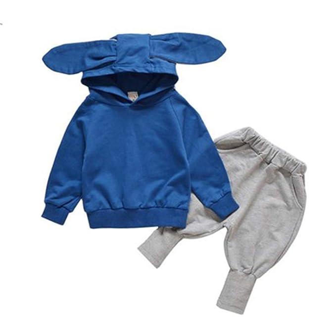 junkai Niños Chicos Chicas Chándal Sudadera con Capucha de Manga Completa Pantalones de chándal Pantalones para Correr para niños Altura 80-120cm: ...