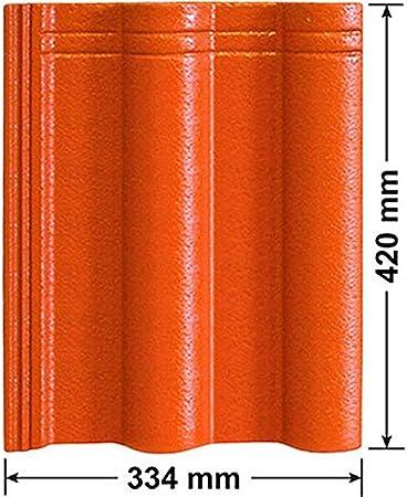 Entl/üfterkamin PRO DN125 f/ür Creaton RAL 8004 - Ziegelrot Heidelberger Dachziegel Dachl/üfter L/üfter