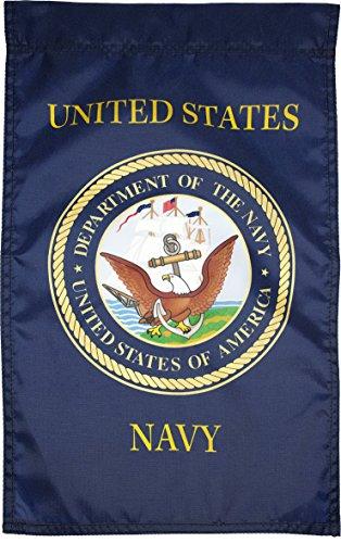 FlagSource U.S. Navy Nylon Garden Flag, Made in The USA, 18x12