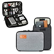 Cable Organiser,T Tersely Travel Gadget Cables Electronics Accessories Organizer Bag,Portable Tech Gear Phone…