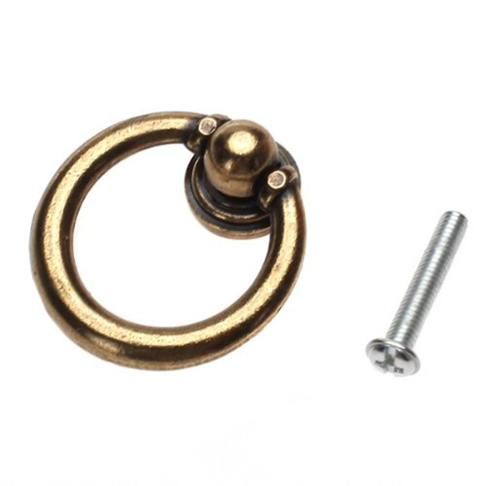 Attractive OOOUSE 10x Furniture Hardware Drawer Drop Ring Pull Knob Bronze Tone /  Antique Traditional Appearance, Solid Bronze Tone Ring Pull For Your Drawer,  Cabinet, ...