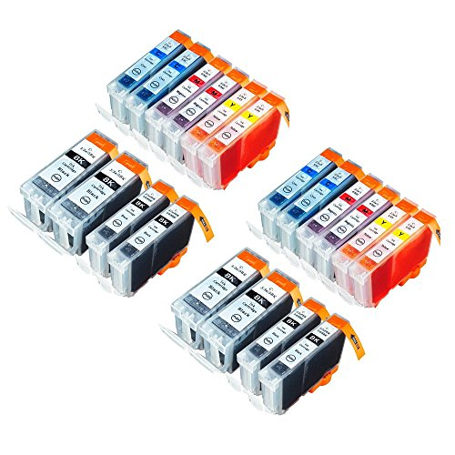 4200 Ink (RIGHTINK 20Pack Compatible Ink Cartridge for Canon PGI-5 CLI-8 Fit for Canon PIXMA IP MX MP Series Printer)