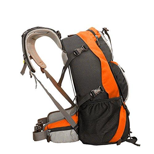 Cuckoo 45 Liters Unisex Hochleistungs-Outdoor-Klettern Camping Trekking Travel Rucksack Große Wander-Daypacks Wasserdichter Rucksack Orange