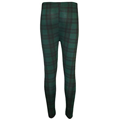 42d215549c87a EASY BUYY New Women Ladies Green RED Tartan Skinny Full Length Stretchy  Trousers Leggings Pants: Amazon.co.uk: Clothing