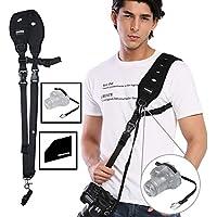 Prowithlin Camera Neck Shoulder Strap w/Release Plate & Safety Tether