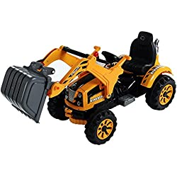 Aosom 6V Kids Ride On Toy Digger Construction Excavator Tractor Vehicle