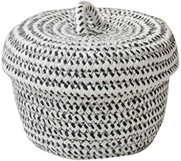 Shypt Cotton Rope Basket Woven Laundry Basket Storage Hamper Small Storage Box With Lid For Bedroom Living Room Decor Shelf Basket Buy Online At Best Price In Uae Amazon Ae