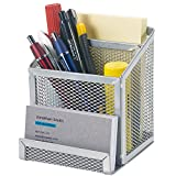 Desk Printer - Bonsaii Home office Metal Mesh Desktop Organizer 3 Divided Compartments ,Sliver(W6024)