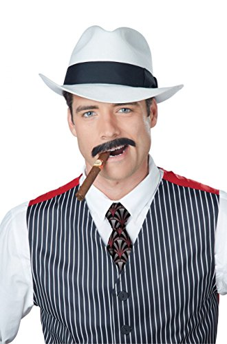 California Costumes Men's Gangster Stache, Brown, One Size ()