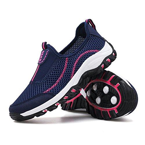 Textil Caminata Mujer Blue1 Textil de Moda Zapatos Slip 69 Zapatillas de en para OHCgx5wXq