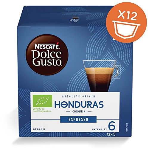 Nescafe DOLCE GUSTO Pods/ Capsules - ORGANIC HONDURAS CORQUIN (NEW) = 12 count (pack of 4 = 48 - Organic Honey Dolce