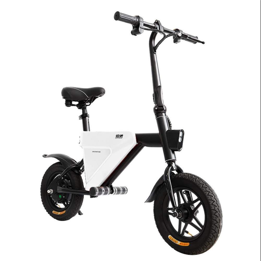 Vespa Plegable del Cuerpo De La Bici Eléctrica con, Aplicación Elegante, Motor Ahorro De Energía Silencioso 36V 250W,White