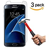 [3 Pack]Galaxy S7 Screen Protector,Anthenalistee Tempered Glass Screen Protector for Samsung Galaxy S7,3D Touch Compatible,9H Hardness,Bubble Free.