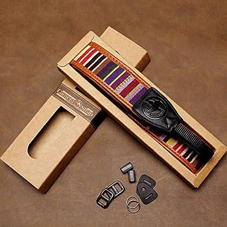 Embroidered Vintage Multi Color Neck Belt D Avecell Vintage Camera Shoulder Strap Belt for All DSLR Camera Vibrant Design Universal DSLR Strap