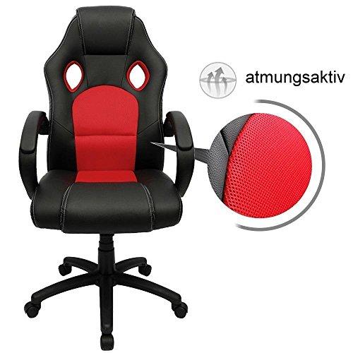 Racing Chrom Bürostuhl Gaming Ebs StuhlRot Pk0OwX8n