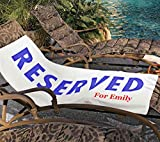 PopDesigners Reserved Written Customizable Funny Bath Beach Towel