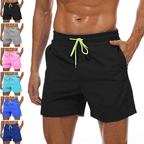 3c48505388 Lncropo Swimming Trunks for Men Quick Dry Mens Boy Swim Trunks with Mesh  Lining Beach Board