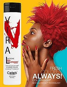 Celeb Luxury Viral Color Wash Shampoo, Extreme Red, Citrus Bloom, 8.25 fl. oz.