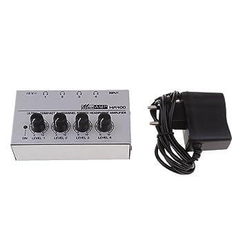 MagiDeal Amplificador de Audio para Hogar Universal Compacto 4 Canales Auriculares Estéreo Enchufe UE: Amazon.es: Electrónica