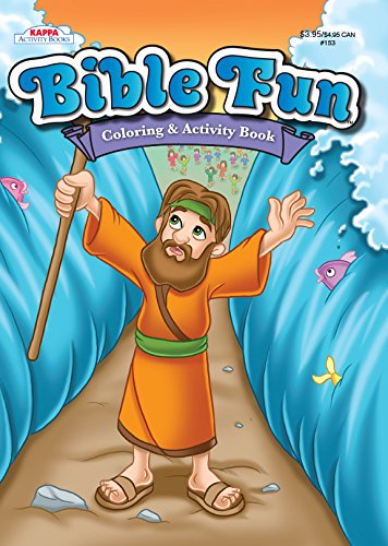 Bible Fun Coloring & Activity Book-Moses parting the Red Sea]()