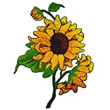 Sun Flowers Embroidered Iron on Applique Patches by Happy Natt