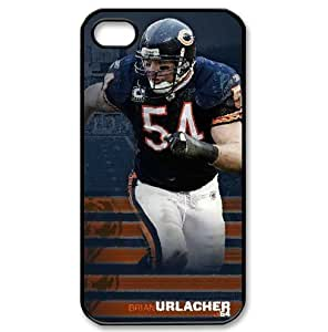 iPhone 4/4s protector case with Chicago Bears Brian Urlacher portrait image