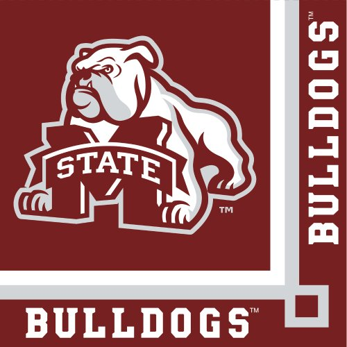 20-Count Paper Beverage Napkins, Mississippi State Bulldogs