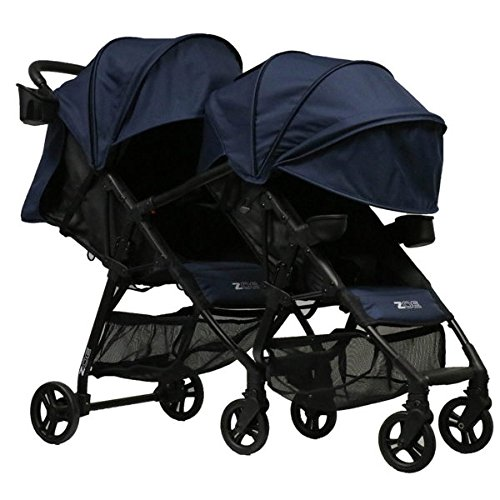 ZOE XL1 Best Tandem Lightweight Travel & Everyday Umbrella Stroller System (London Navy)