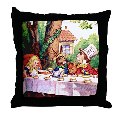 CafePress The Mad Hatter's Tea Party Decor Throw Pillow (18