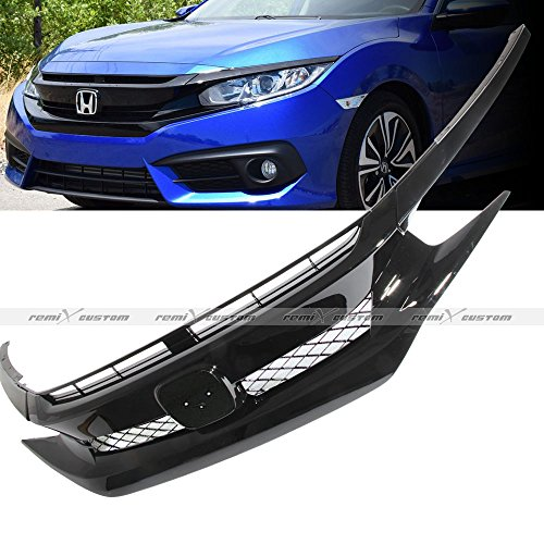 - Remix Custom Front Grill for 2016 2017 2018 Honda Civic JDM Eyelids Covers