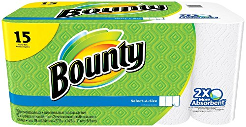 Bounty Select-a-Size Paper Towels, White, 15 Regular Rolls