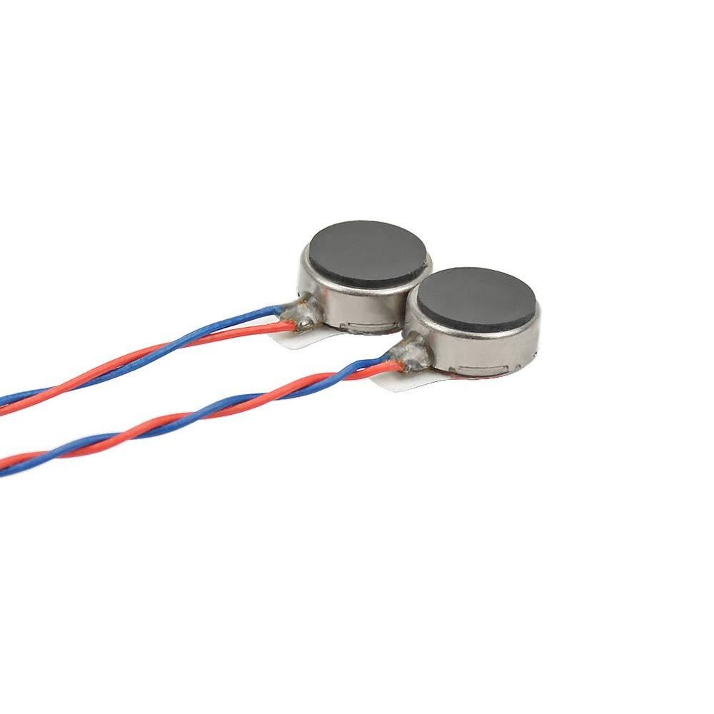3.7V Button Type Mini DC Motors 8mm x 3mm 15PCS BestTong 0830 Micro Flat Coin Cell Phone Vibrating Vibration Motor 12000RPM DC 3V