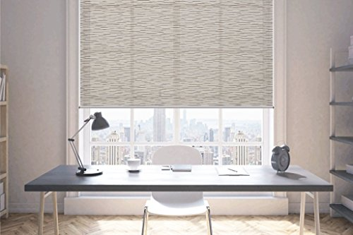 Springblinds-Custom size Roller Shade Cordless Child safety-Light filtering Decorative fabric W23x L72