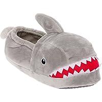 Image of Fun Shark Slippers with Big Teeth and Shark Fin