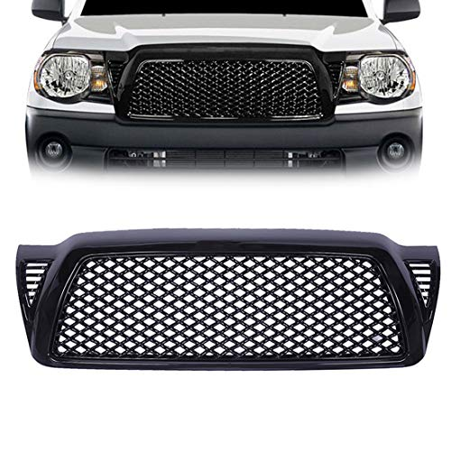 PARTS-DIYER Black Mesh ABS Plastic Front Bumper Grill Grille Hood Fits 2005-2011 Toyota Tacoma (Toyota Tacoma Grill 2009)