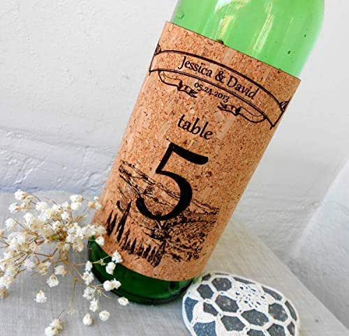 Wine Cork Table Numbers: Amazon.com: Table Numbers Wine Bottle Labels, Rustic Cork