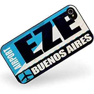 Rubber Case for iphone 4 4s Airportcode EZE Buenos Aires - Neonblond