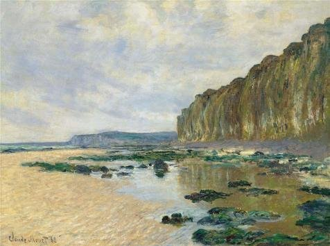 'Claude Monet - Low Tide At Varengeville, 1882' Oil Painting, 20x27 Inch / 51x68 Cm ,printed On High Quality Polyster Canvas ,this Imitations Art DecorativeCanvas Prints Is Perfectly Suitalbe For Bedroom Decor And Home Gallery Art And Gifts