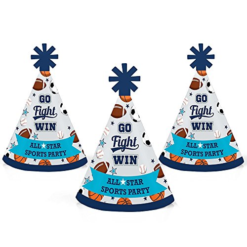 Go, Fight, Win - Sports - Mini Cone Baby Shower or Birthday...
