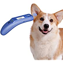Pet Thermometer for Cat, Dog, Rabbit and Big ear animal, Non Contact Pet Thermometer to Measure Pet Ear Temperature accurately, Pet Body Mode and Object (Bath, Milk) Mode Available, C / F Switchable