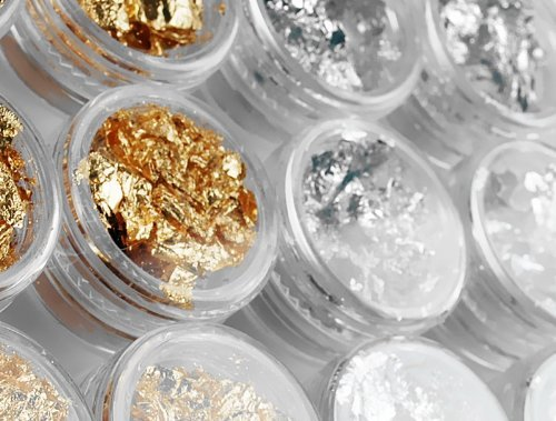 So Beauty 12 Bottles Gold Silver Foil Paillette Flake Nail Art DIY Decoration Acrylic UV Gel
