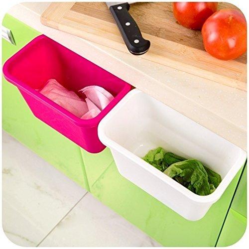 Honice Creative Multifuctional Plastic Kitchen Desktop Hanging Food Waste Garbage Bowl Bin Rubbish Organizer Trash