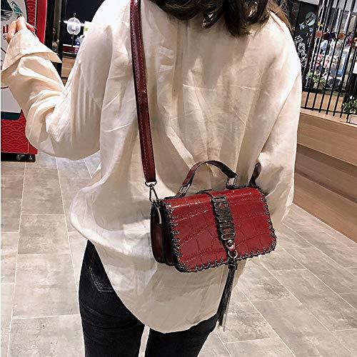 5x12x8cm C Piccola A Nera Borsa Teng Mano 5x12x8cm 19 Tracolla Donna colore Per Dimensioni 19 Moda Peng A xfAOTOwanq
