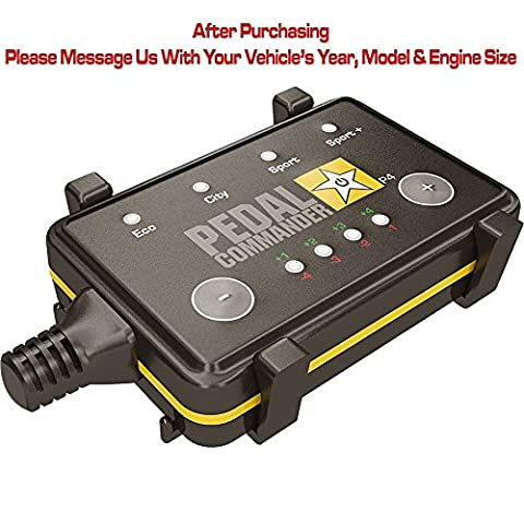 Pedal Commander throttle response controller for all Toyota models 2005 and newer - get increased performance or save fuel up to 20% - Available for Tundra, Tacoma, Highlander, FJ Cruiser,