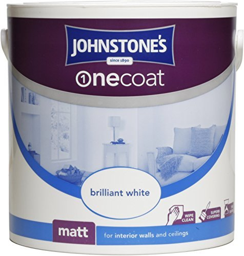 Johnstone's 304133 2.5 Litre One Coat Matt Emulsion Paint - Brilliant White by Johnstone's (Conditioning Emulsion)
