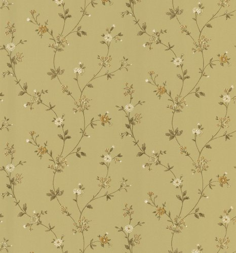 Brewster 403-49224 Cottage Living Daisy Light Brown Floral Trail -