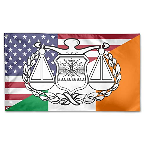 TTHOMT USAF Judge Advocate Badge Irish American Flag Home Garden Flag Yard Outdoor Indoor Decorative Flag 3x5 ()