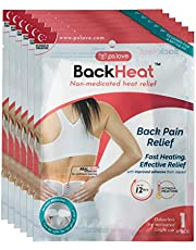 BackHeat Heat Patch For Back Pain Relief And Comfort From Backaches Pack Of 6 Patches Wraps Pads One Size Multi